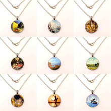 2019 Hot Sale  Glass Pendant Necklace Hanging Retro Jewelry Handmade Fashion Necklace Female Gifts