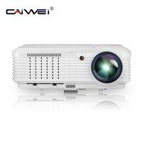 CAIWEI цифровой светодио дный 1080 P видео светодиодный проектор дома ТЕАТР игры фильм мультимедийный проектор проводной синхронизации смартфо