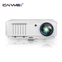 CAIWEI Digital 1080P Video LED Projector Home Theater Game Movie Multimedia Proyector Wired Sync Smartphone HDMI USB AV TV
