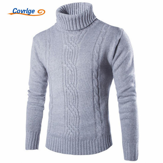 Covrlge Slim Fit Turtleneck Mens Sweater