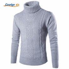 Covrlge 2019 Male 스웨터 풀 오버 Slim Warm Solid (High) 저 (옷 깃 자카드 헤징 영국 Mens 옷 망 터틀넥 MZM030