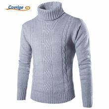 Covrlge 2019 мужской Свитера пуловеры Тонкий Теплый Твердые