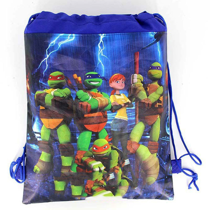 1PCS Boys Favors Ninja turtles Design Mochila Baby Shower Party Non-woven Fabrics Happy Birthday Decorate Drawstring Gifts Bags1PCS Boys Favors Ninja turtles Design Mochila Baby Shower Party Non-woven Fabrics Happy Birthday Decorate Drawstring Gifts Bags