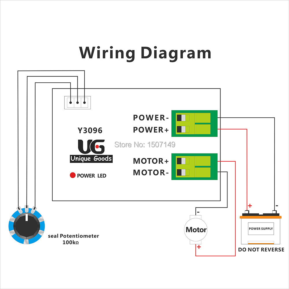 Ng1 Wiring Diagram Dc Library Motors Free Shipping 12v 36v 10a Wire Pwm Motor Speed Controller Basics