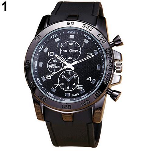 New Sport Watch Montre Homme Men\'s Fashion Casual Sport Round Dial Silicone Strap Analog Quartz Wrist Watch Digital Watch