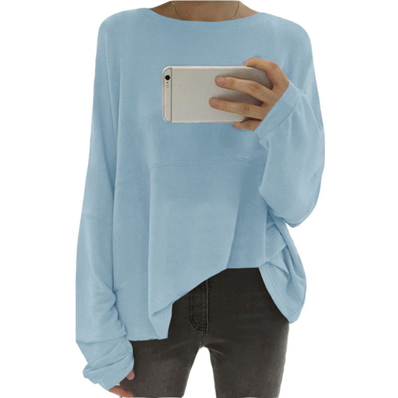 New Fashion Plus Size Women Tshirt Long Sleeve O Neck Tee Shirt Casual Loose Female Solid Tops Basic T-Shirt Women Clothes
