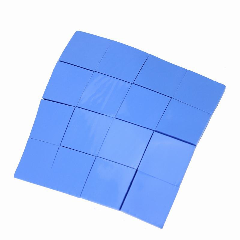 Free shipping --Superior 48PCS 25 x 1mm Blue Thermal Pad Conductive Chipset Silicone Paste