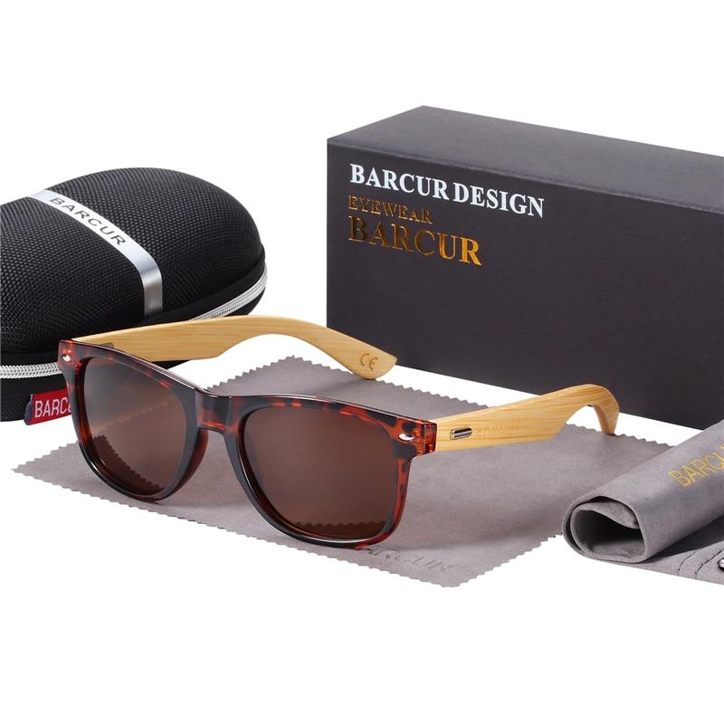 HTB1NshtblSD3KVjSZFqq6A4bpXay BARCUR Polarized Bamboo Sunglasses Men Wooden Sun glasses Women Brand Original Wood Glasses Oculos de sol masculino