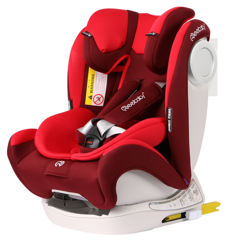 REEBABY child car safety seat isofix hard interface five-point fixed 0-12 years old injection molding steel skeleton