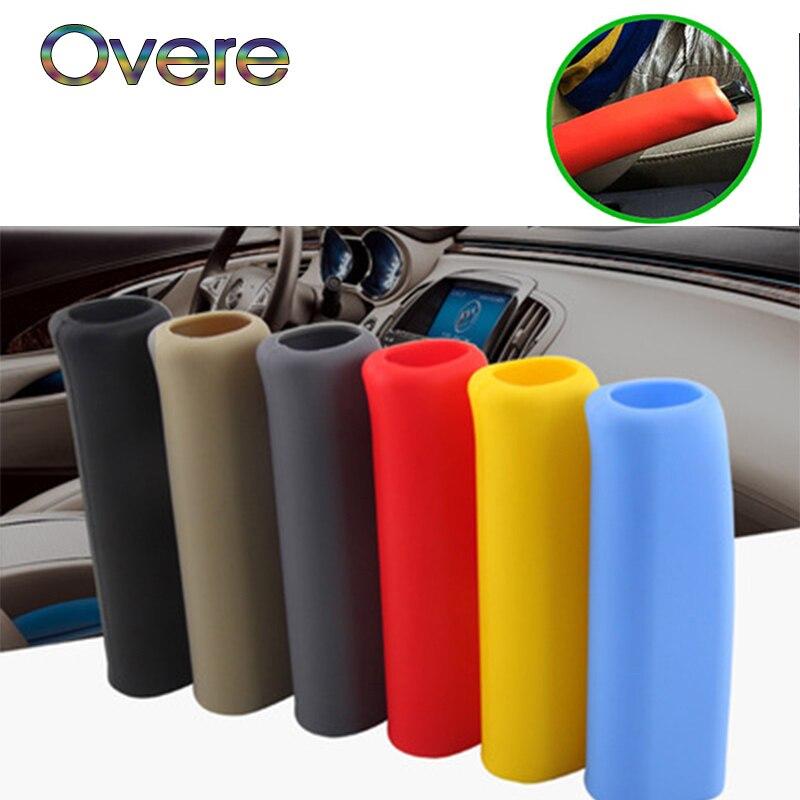 Overe 1PC Auto Car Handbrake Grips Cover For Mercedes W205 W203 W211 Volvo XC90 S60 S80 XC60 V40 Alfa Romeo 159 156 Accessories