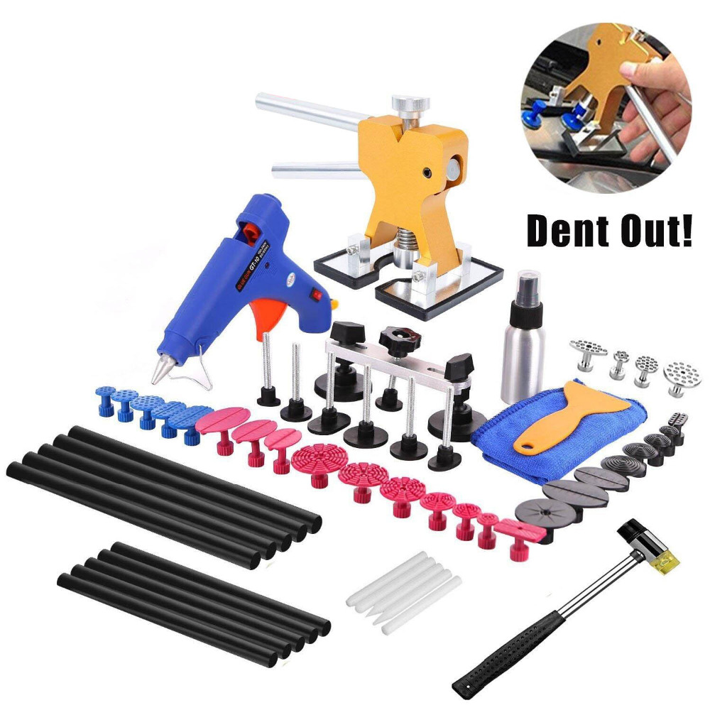 PDR Tools 57Pcs Auto Body Paintless Dent Repair Removal Tool Kits Dent Lifter Bridge Glue Puller Kits With Tool Bag  цены