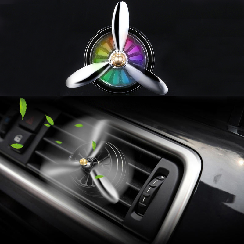 Car Perfume Air Freshener Fragrant Sheet <font><b>LED</b></font> Air Vent Clip For KIA Rio Ceed Sportage <font><b>Mazda</b></font> 3 <font><b>6</b></font> Cx-5 Peugeot 206 307 308 207 image