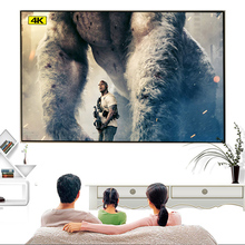 Ambient Light Rejecting ALR Thin Frame 80 90 100 120 133 inch Fixed Frame Projector Screen for Home theater Projection