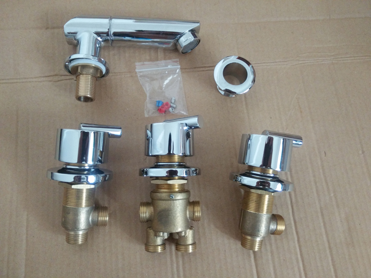 bathroom shower faucet 5pcs=1set , shower room mixing valve sets , bathtub hot and cold faucet mixer