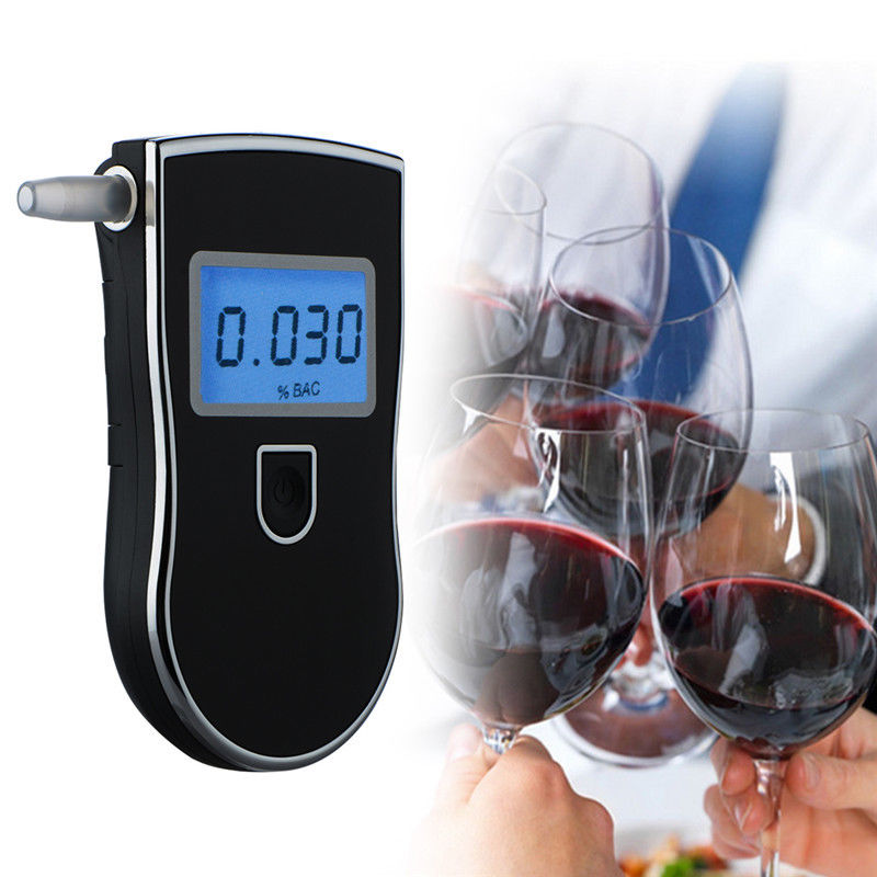 Portable Professional Police LCD Digital Breath Alkoholtester Breathalyzer Tester AT818 for Alcohol Driving Detector