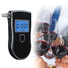 лучшая цена Portable Professional Police LCD Digital Breath Alkoholtester Breathalyzer Tester AT818 for Alcohol Driving Alcohol Detector