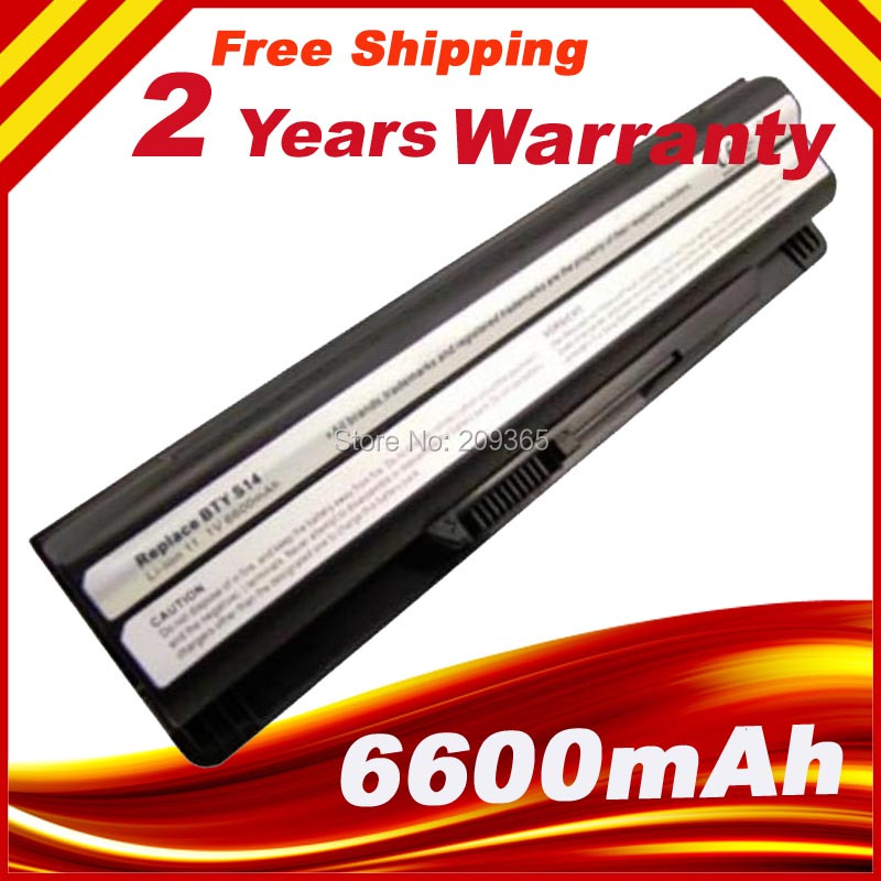 6600mAh 9 Cells Laptop Battery for MSI GE620DX  BTY-S14 FX720 GE60 GE620 GE620DX GE70 A6500 CR41 CR61 CR70 FR720 CX70 FX700 new genuine 14 4v 5200mah 74wh 8 cells a42 g55 notebook li ion battery pack for asus g55 g55v g55vm g55vw laptop