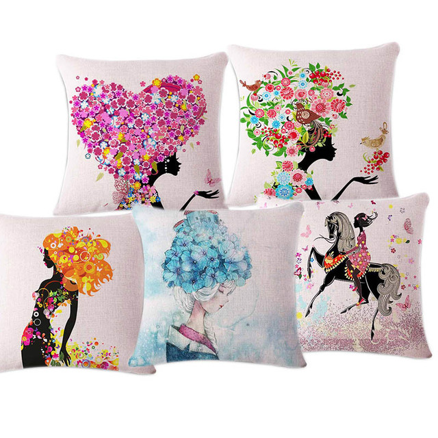 High Quality Cartoon Home Decorative Cushion Sofa Bed Throw Pillow Case Beautiful Cover