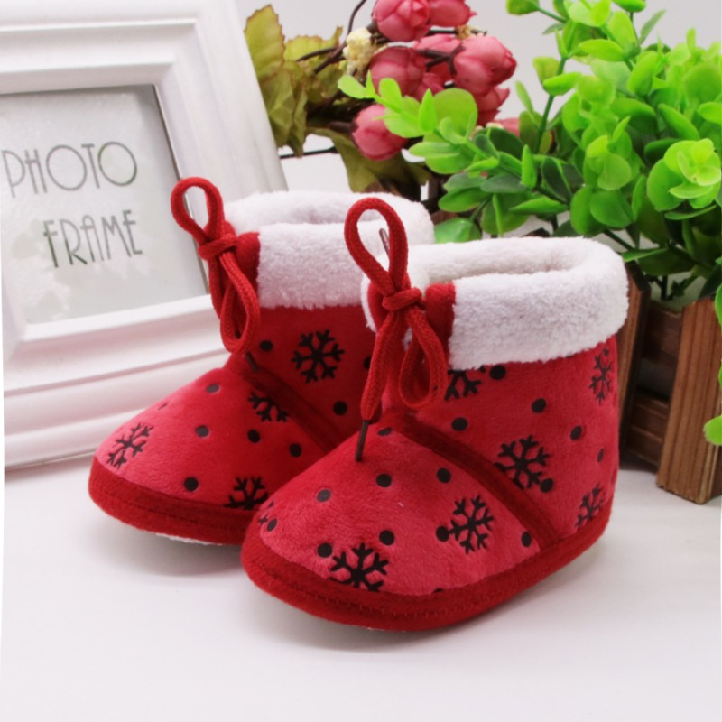 Baby Girl Shoes Children Infant Boys Girls Winter Autumn Thick Warm Boots Fashion Ice Flower Kids Shoes