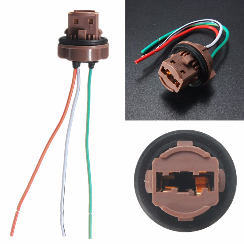 12CM Wire Wedge Sockets Plug Connector Harness For Standard T20 7440 7443 LED Brake Bulb Light Lamp 12V Car Styling  curt 51434 brake control harness