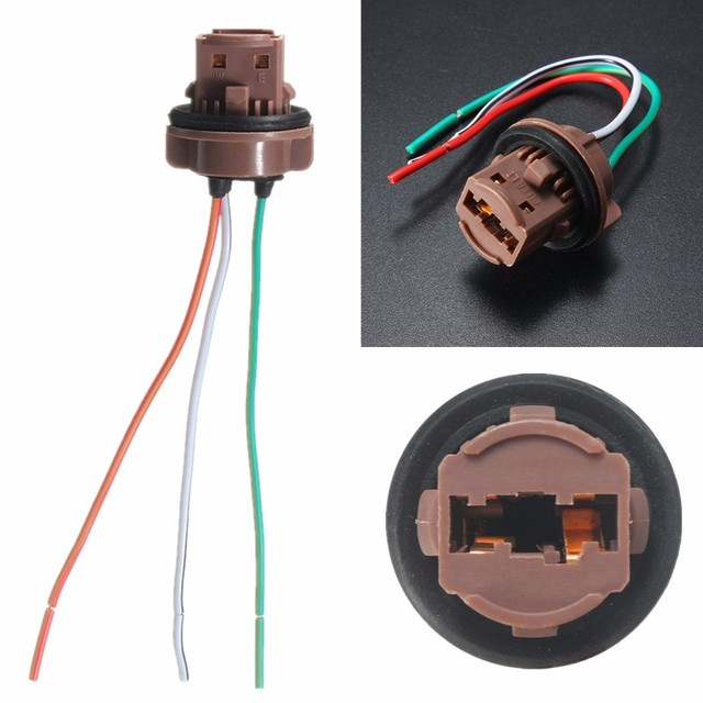 12CM Wire Wedge Sockets Plug Connector Harness For Standard T20 7440 ...