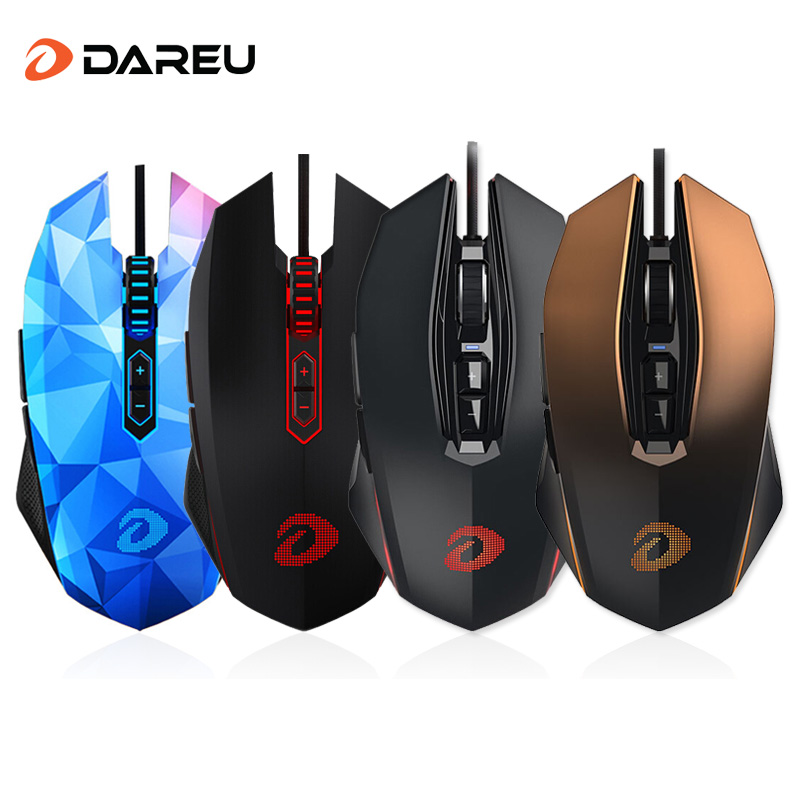 Dareu EM925/EM925 pro Wired Gaming Mouse 8000 DPI/10800 DPI USB Computer Optical LED Game Mice For PC Laptop Desktop mosunx e5 mecall promotion 2400dpi led optical 6d usb wired gaming game mouse pro gamer computer mice for pc whoelsale
