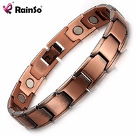 RainSo Fashion Elegant Copper Magnetic Bracelets For Women Noble Top Quality Health Jewelry Magnetic Power Hologram