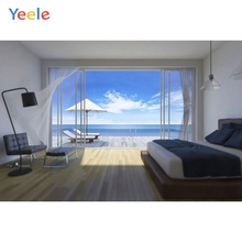 Yeele Photography Backdrops Interior Wall Decoration Out window Seaside Scenery Custom Photographic Backgrounds For Photo Studio