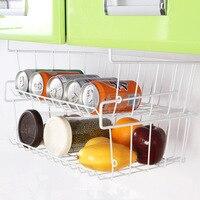 Cabinets Refrigerator Rack Kitchen Supplies Storage Storage Basket Storage Single Layer Seasoning Racks
