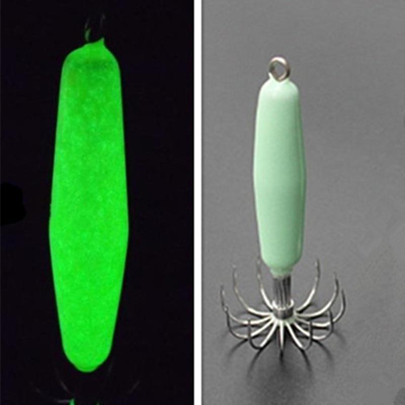 5PCS Luminous Squid Baits 12 Hooks Luminated Sea Fishing Fluorescent Squid Jig Fishing Lure 12g/18g/21g/35g