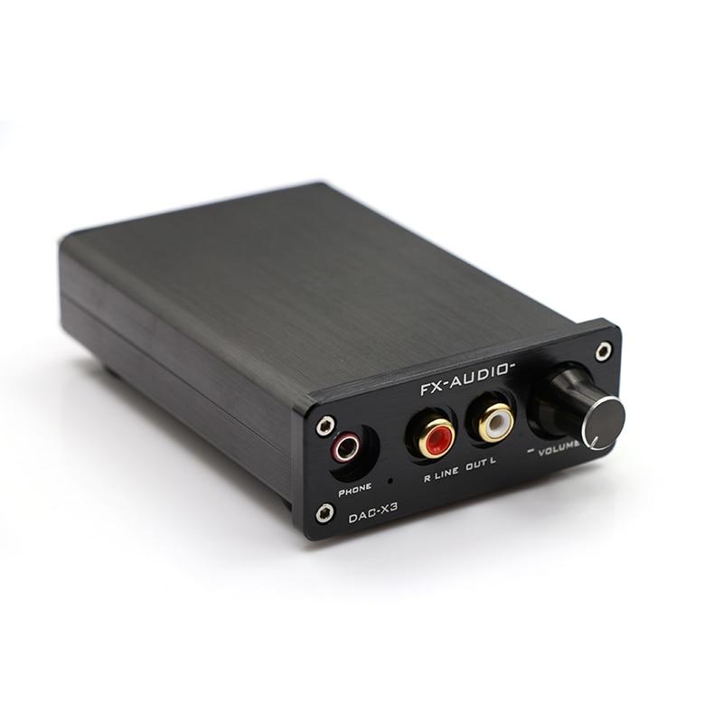 FX-AUDIO MINI DAC-X3 Fiber Coaxial USB Decoder amplificador audio USB DAC Headphone Decoder audio amplifiers feixiang fx audio mini dac x3 fiber coaxial usb decoder 24bit 192khz usb dac headphone decoder audio amplifiers