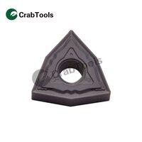 Crab Tools Korloy 10PC WNMG080404 HS PC9030 Metal Turning Lathe Tools Turning Cutter Carbide Insert CNC Tool Tip Machine