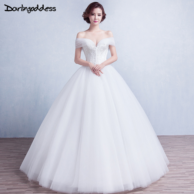 Princess Bridal Dresses 2017 Ball Gown Sweetheart Cap Sleeves Lace