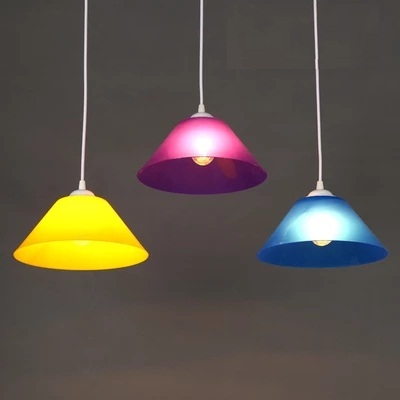 Simple Color Plastic Art Droplight Modern LED Pendant Light Fixtures For Dining Room Bar Hanging Lamp Indoor Lighting
