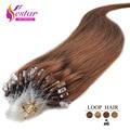 Loop Micro Anel Extensão Do Cabelo 100 s/Pack 7A 16-24 polegada Pré-ligado Extensões de Cabelo Loop Micro Humana Remy do cabelo da Extensão Do Cabelo Micro