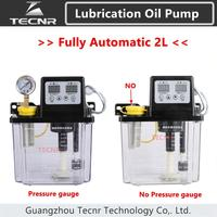 TECNR fully automatic lubricating oil pump 2L Liters with Pressure gauge 220V cnc electromagnetic lubrication pump