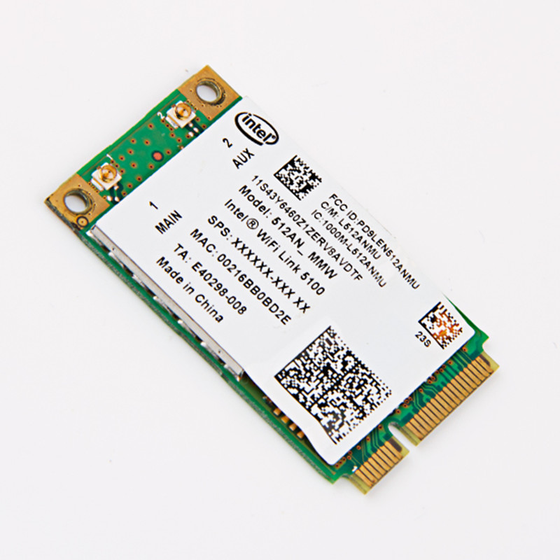 For IBM Lenovo Intel LINK 5100 512AN_MMW PCI-E 802.11a/b/g/n 300Mbps wireless WIFI Card Thinkpad X301 X200 W500 T400 T500 SL300 клавиатура topon top 100450 для lenovo ibm thinkpad sl300 sl400 sl500 black