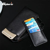 CYBORIS Genuine Leather Case For Iphone 7 7 Plus Wallet Real Leather Cover Purse For Iphone