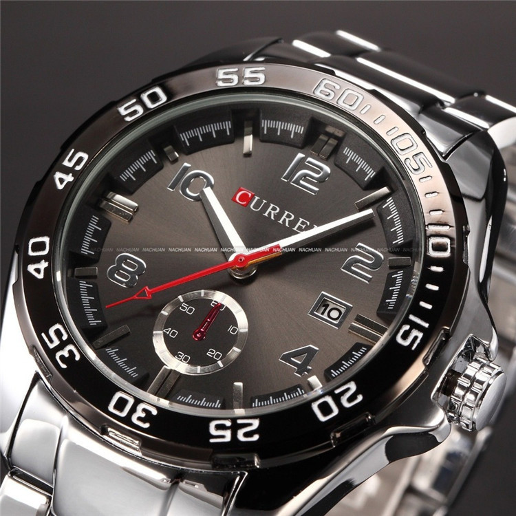 relogio masculino Curren Luxury Brand Stainless Steel Strap Analog Date Men's Quartz Watch Casual Watch Men Wristwatch curren luxury brand nylon strap analog display date men s quartz watch casual watch men sport wristwatch relogio masculino w8195
