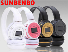 Cheapest SUNBENBO New N65 Wireless headset With LCD Screen Digital Headset Over-Ear Headphones with noise cancelling FM radio Earphone
