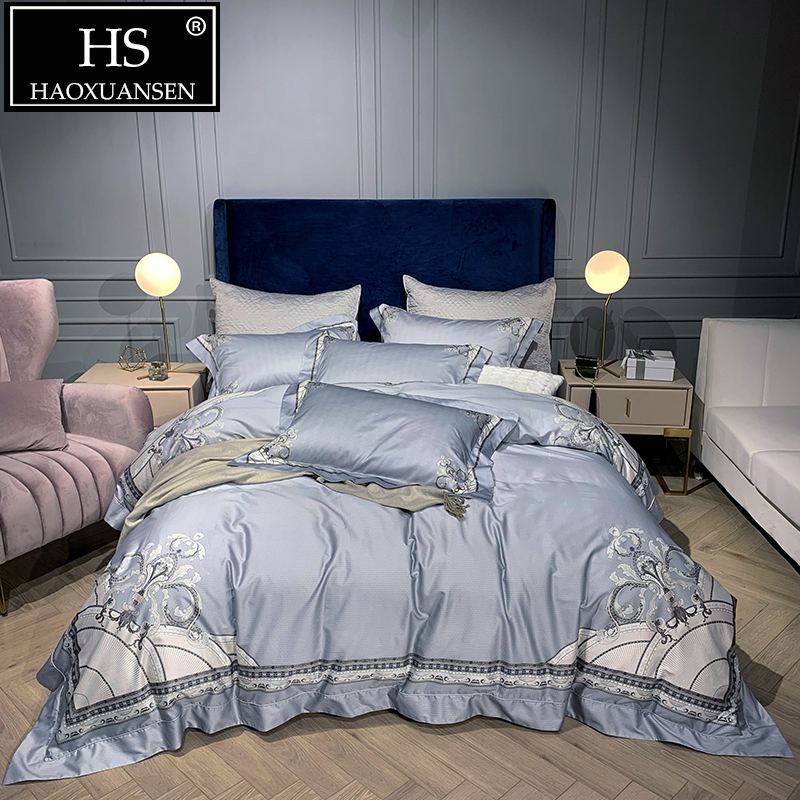 High Quality Grey Cotton Bedding Sets 1000 Thread Count Digital Print Double Bed Linen Set Queen King Size Adult 4pcs BedclothesHigh Quality Grey Cotton Bedding Sets 1000 Thread Count Digital Print Double Bed Linen Set Queen King Size Adult 4pcs Bedclothes