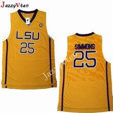 JazzyVten ens Retro Ben Simmons College Basketball Jersey yellow 25 Ben  Simmons University Basketball Shirts Stitched 540b7dae4