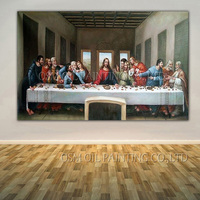 Professional Artist Reproduction High Quality Da Vinci Oil Painting Handmade King Size Classical The Last Supper Oil Painting