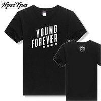 2017 Sıcak Satış Camisetas Blusa Kpop Bts Bangtan Boys Tops T-shirt % 100% pamuk Bloom Jung Kook Jimin Yeni Genç Sonsuza kollu