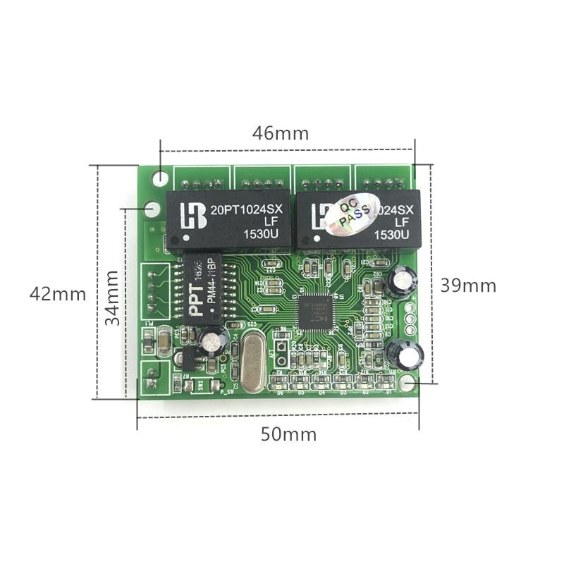 Image 4 - 3/4/5 ポート 10/100 150mbps ピンヘッダマイクロスイッチモジュールミニコンパクト 3.3V5V9V12V  エンジニアリングサーバー 5 ポートイーサネットスイッチ    グループ上の パソコン