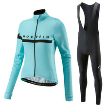 2020 Morvelo 가을 긴 소매 프로 사이클링 저지 여성 레이싱 자전거 의류 스포츠 착용 복고풍 자전거 의류 Maillot 유니폼