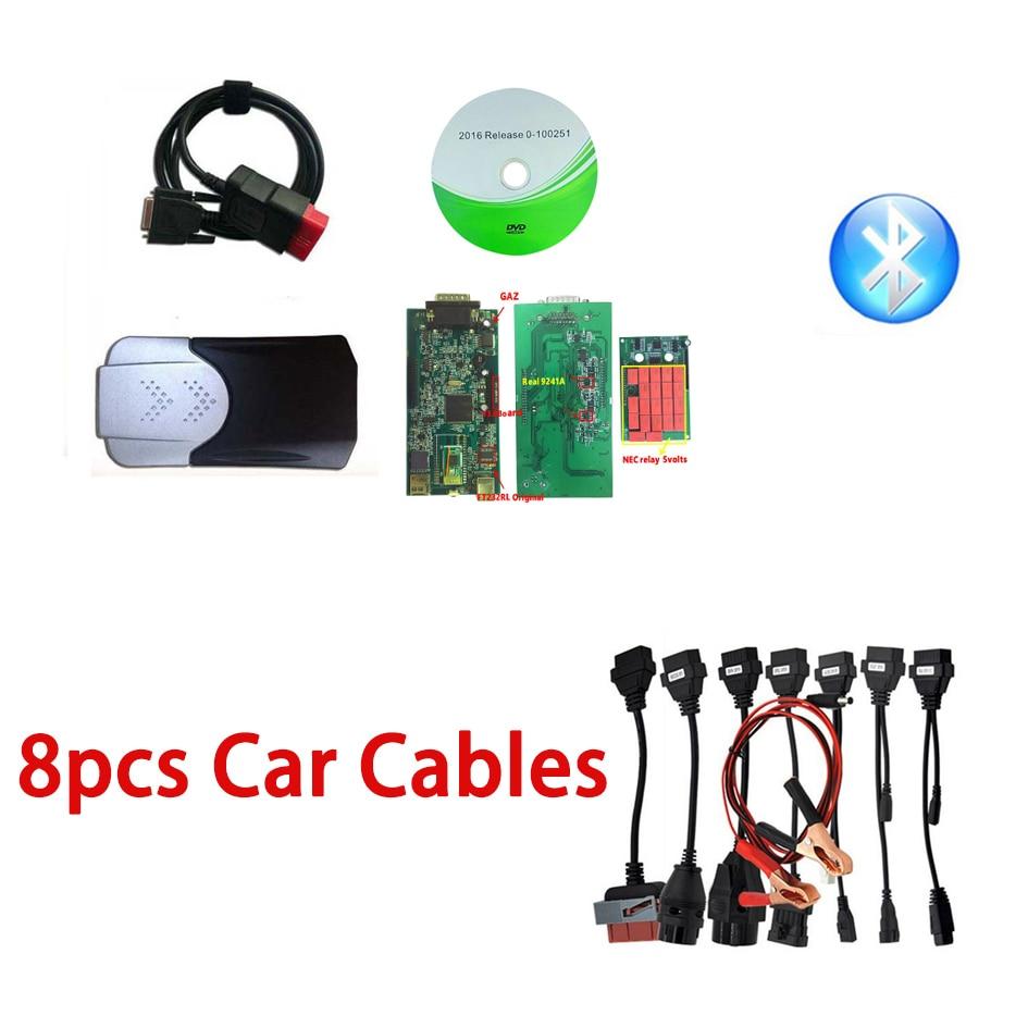 Супер V3.0 двойной PCB 2015.R0 Keygen + полный набор 8 автомобильных кабелей VD DS150E CDP Pro диагностический интерфейс для многобрендовых автомобилей/грузо...