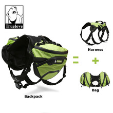Truelove Two Used Dog Backpack Harness Waterproof Outdoor Camping Training Hiking Multi Day Backcountry Pet Backpack For Dogs
