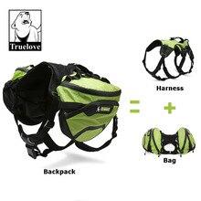 Truelove dois usado cão mochila arnês impermeável acampamento ao ar livre treinamento caminhadas multi dia backcountry pet mochila para cães