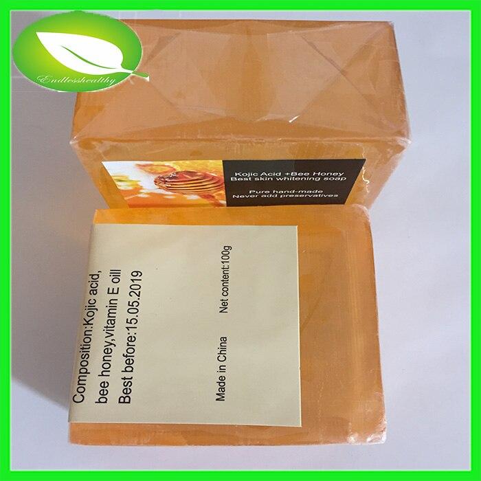 US $13 0 |100g international soap brands free shipping cost skin white  black women skin whitening bee honey soap-in Soap from Beauty & Health on